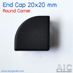 End Cap 20x20 mm Round Corner