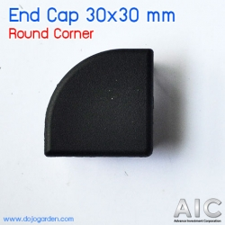 End Cap 30x30 mm Round Corner