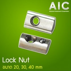 Lock Nut 20 mm M6 - Pack 10