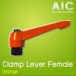 Clamp Lever M8 Female สีส้ม