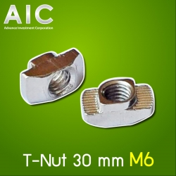 T-Nut 30 mm M6 Stainless Pack 10