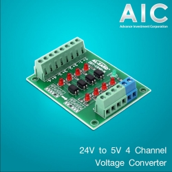 24V to 5V 4 Channel Voltage Converter