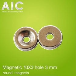 magnetic 10 x3 hole 3 mm round magnets