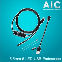 5.5mm 6 LED USB Endoscope