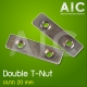 Double T-Nut 20 mm - M5