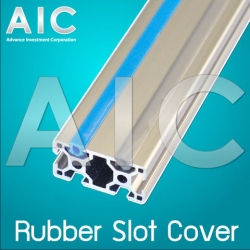 Rubber Slot Cover 20 mm - สีเทา