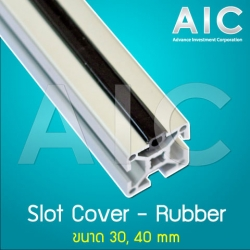 Rubber Slot Cover 30 mm - สีดำ