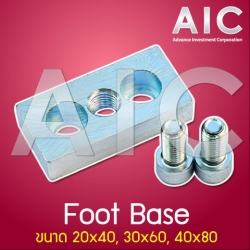 Foot Base 40x80 mm