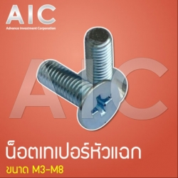 Taper Cap Screw - Steel
