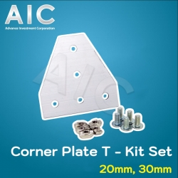Corner Plate T - 30 mm Kit Set - Pack 2