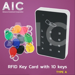 RFID Key Card with 10 keys Type A