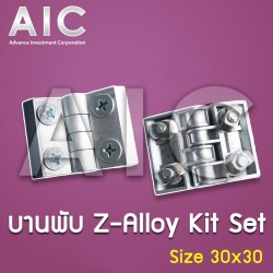 บานพับ Zn-Alloy - 30x30 mm Kit Set