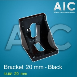 Bracket 20 mm (Black) - Pack 4