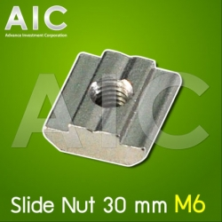Slide Nut 30 mm M6 - Pack 50