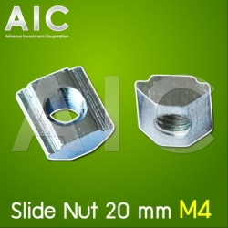 Slide Nut 20 mm M4 Pack100