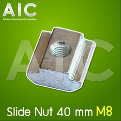 Slide Nut 40 mm M8 Pack100