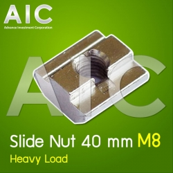 Slide Nut 40 mm M8 Heavy Load Pack100