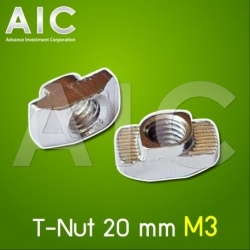 T-Nut 20 mm M3 - Pack 50