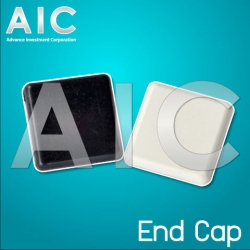 End Cap 20x20 mm - White - Pack 4