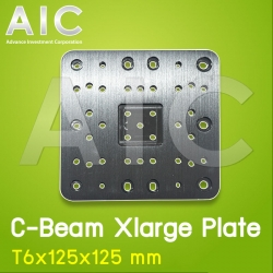 C-Beam Xlarge Plate T6x125x125 mm