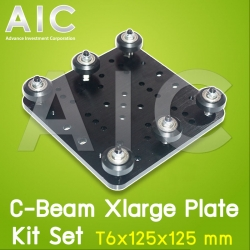 C-Beam Xlarge Plate T6x125x125 mm - Kit Set