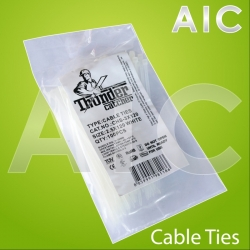 Cable Ties 2.5x120 White - Pack 100