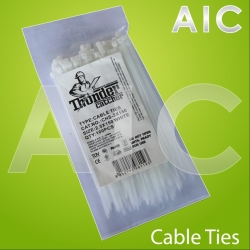 Cable Ties 2.5x150 White - Pack 100