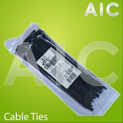 Cable Ties 4.5x250 Black - Pack 100