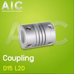 Coupling D15 L20 for 2x5 mm Shaft