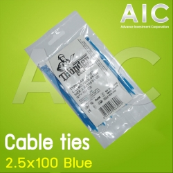 Cable ties 2.5x100 Blue Pack 50