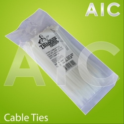 Cable Ties 3.5x180 White - Pack 100