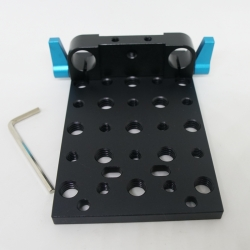 Mount Plate Railblock with Double Holes 15mm