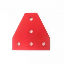 Corner Plate T Red - 20 mm -Pack 2